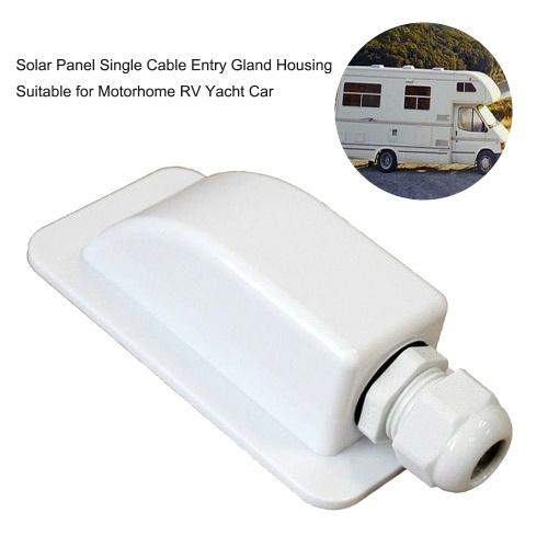 Caja de prensaestopas de entrada de un solo cable Cable de caja de prensaestopas de entrada de cables de techo de panel solar adecuado para autocaravana RV yate