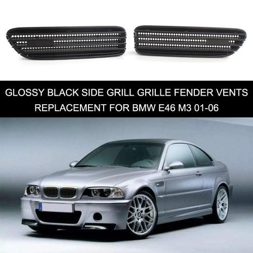 Глянцевая черная боковая решетка радиатора Замена вентиляционных отверстий для BMW E46 M3 01-06