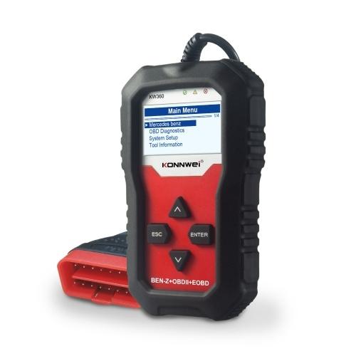 KONNWEI Универсальный сканер OBDII, считыватель кода, считыватель неисправностей двигателя, датчик давления в шинах, автомобильный диагностический сканер, замена инструмента для Mercedes