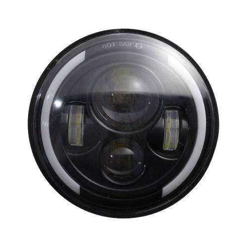 1 шт. 7 дюймов круглой формы светодиодные передние фары Замена для Jeep Wrangler JK LJ TJ CJ