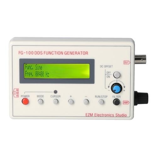 FG-100 DDS Функция генератора сигналов Частотомер 1 Гц - 500 кГц (бежевый)
