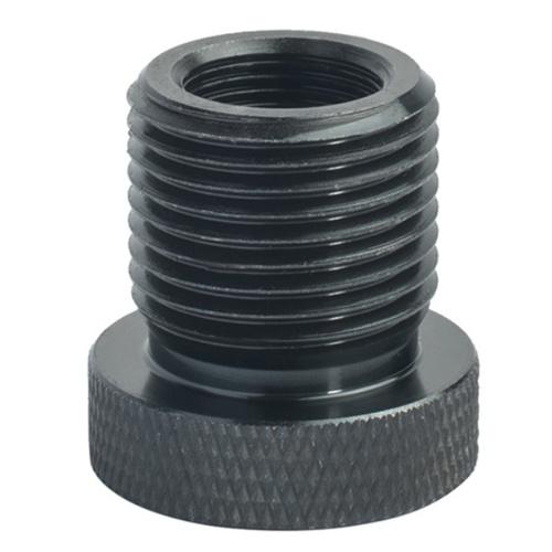 1шт 1 / 2-28 до 3 / 4-16 автомобильный резьбовой адаптер масляного фильтра черная сталь с накаткой