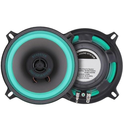 Altoparlante coassiale HiFi per auto da 5 pollici 100W Porta del veicolo Audio per auto Musica Altoparlanti stereo a frequenza completa per auto