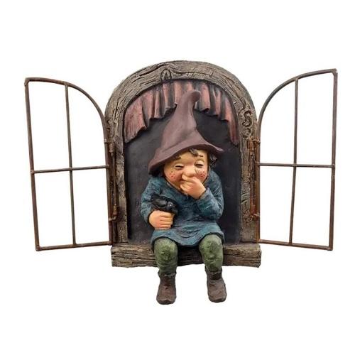 Сникер мальчик дизайн садовые статуи персонажей на открытом воздухе забавная статуя для декора сада двор лужайки украшения