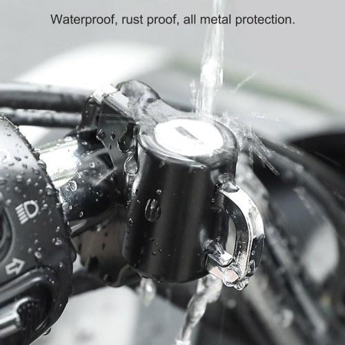Universal Motorcycle Helmet Lock Anti-Theft Helmet Security Lock Metal 22mm-26mm Black with 2 Keys Set