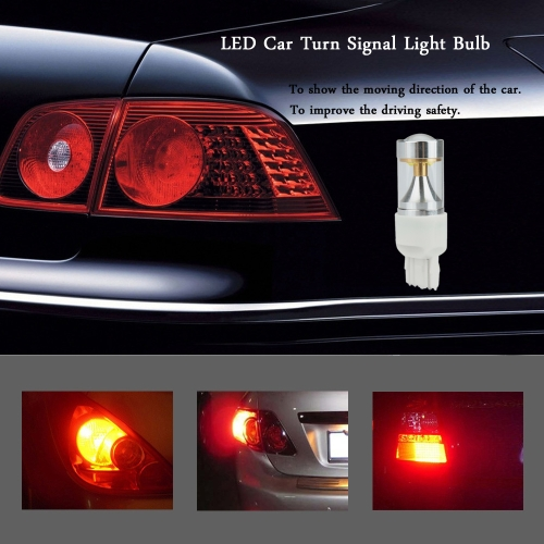 8-SMD 960LM LED Car Turn Signal Brake Tail Light Lamp Bulb Replacement for 7440 Socket White