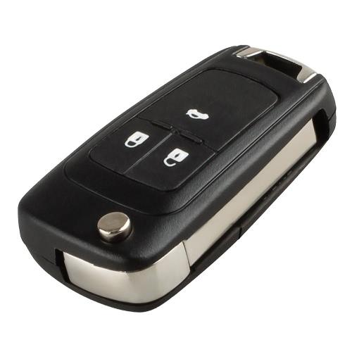 Tirón de 3 botones plegable clave Shell caso cubierta dominante alejada del recambio con la hoja sin cortar para Vauxhall OPEL ASTRA ZAFIRA