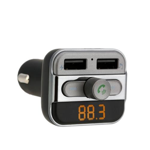 Bluetooth FM Transmissor Handsfree Phone Calling Car Kit MP3 Player