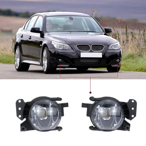 Пара левый и правый передний Противотуманные фары абажур лампы Обложка Набор для BMW 5 серии E60 2004-2007