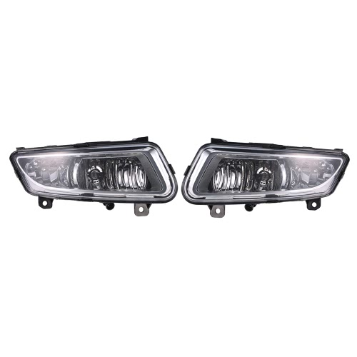 Pair of Front Lower Bumper Fog Light Lamp with Cover Case for VW Volkswagen Polo 2010-2012 6RD853665LH