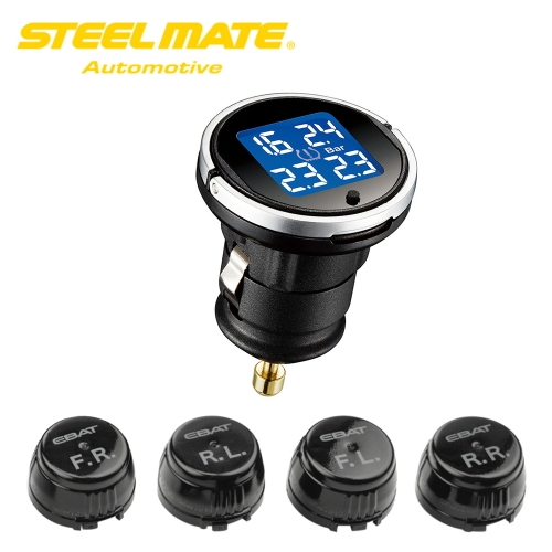 Steelmate EBAT ET-710AE Système de surveillance de la pression des pneus TPMS sans fil LCD 4 capteurs