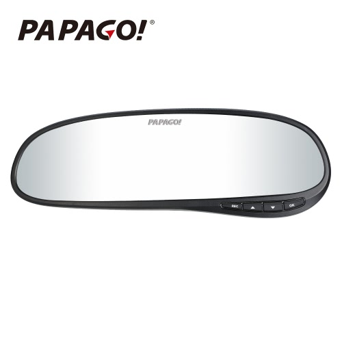 PAPAGO H60 Car DVR PPG 8030 1440P 2.7 Pantalla 140 grados ángulo espejo retrovisor Video Recorder