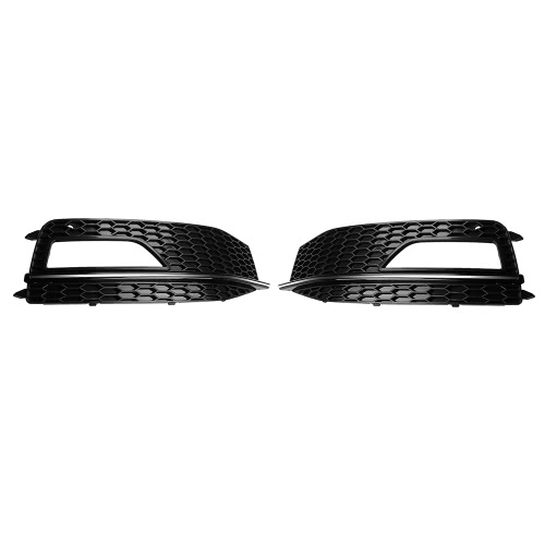 Pair of Car Lower Bumper Grille Fog Light Cover for Audi A4L B9 2013-2016