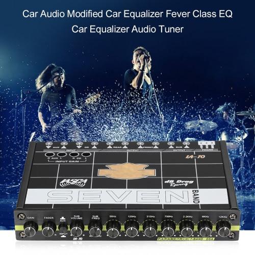 Głośnik samochodowy zmodyfikowany w samochodzie Klasa Fever EQ Car 7 Equalizer Car Audio Tuner
