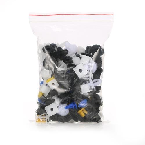 Car Body Plastic Push Pin Rivet Fasteners Trim Moulding Clip Assortments Kit 200Pcs