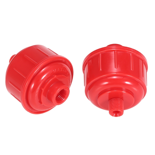 2pcs Disposable Car Air Filter Water Trap For HVLP Paint Sprayer Plastic Red Air Filter Water Trap