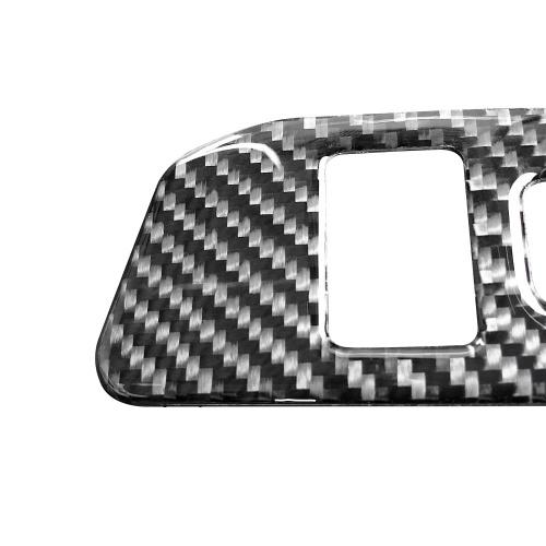 Carbon Fibre Car Interior Задний багажник Переключатель кнопки управления Наклейка наклейки Автомобильные аксессуары для Toyota 86 / Subaru BRZ (2013-2017)