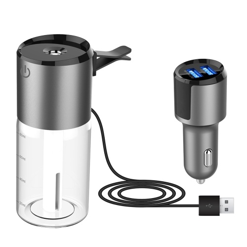 Car Humidifier with Dual USB Charger