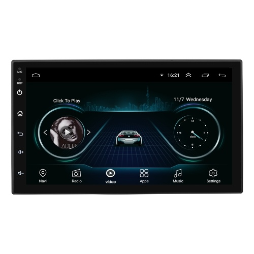 7 Inch for Android 8.1 System 16G Memory Touched Screen HD Car Bt MP5 Player