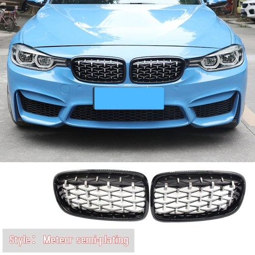 Front Kidney Grille New Meteor Bright Black Fit For BMW F30 328i 335i 2012-2016