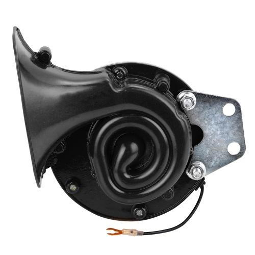 Fuerte 110DB 8V Cuerno de caracol eléctrico Bocina de aire Sonido furioso para coche Motocicleta Camión Barco Grúa