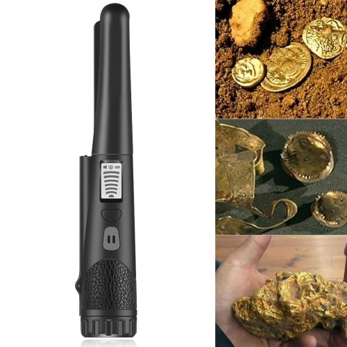 Metal Detector High Sensitivity Metal Detector One-button LED Indicator Gold Detector with Woven Holster Bag