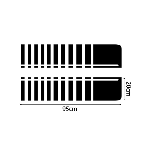 2Pcs Car Hood Stripe Sticker Auto Racing Stripes Body Side Decal Hood Bumper Vinyl Stripe Decal Stripe Sticker Decoration