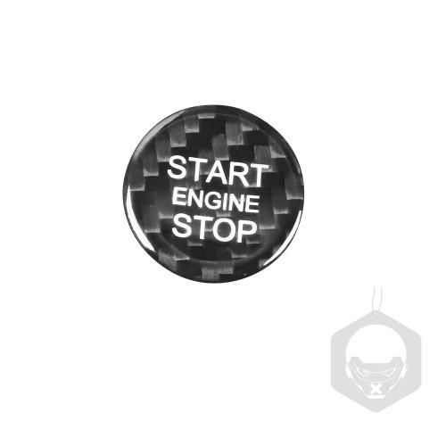 Углеродное волокно протектор запуска двигателя автомобиля кнопка выключения остановки наклейка наклейка зажигания украшение интерьера автомобиля замена для Audi A3 A4 A5 A6 C5 C6 Q5 Q7 S3 S6 S7