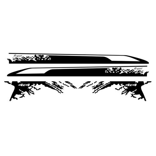 4 шт. Боковые наклейки автомобиля стильные авто виниловая пленка украшение наклейка DIY Спорт водостойкие аксессуары для кузова автомобиля