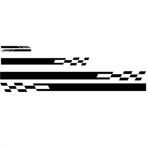 5Pcs Car Side Door Body Hood Motor Rückspiegel Aufkleber Streifen Aufkleber Racing Aufkleber für alle Autos Vinyl Stoßstange Aufkleber