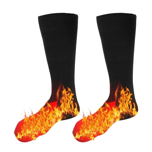 Calcetines térmicos de 3,7 V, calentadores de pies, calcetines térmicos eléctricos, calcetines térmicos lavables con batería para esquí de invierno, senderismo, pesca, montar