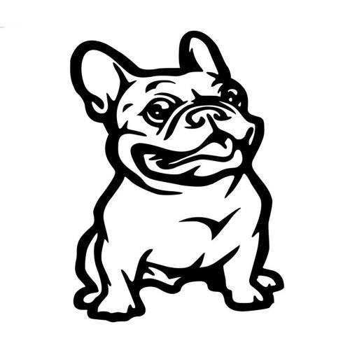 Adesivo per auto per cani Bulldog Decorazione per lo styling del nastro adesivo per auto riflettente