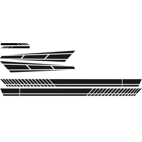6PCS автомобильные наклейки в стиле полосы универсальный автомобильный крючок зеркало тела боковые наклейки наклейка винил красный