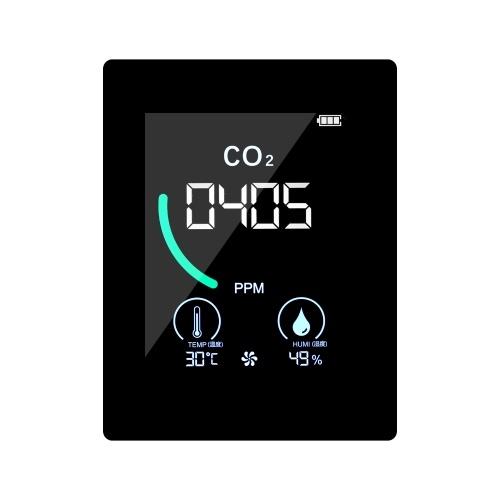 CO2 メーター 放熱穴付き屋内二酸化炭素検出器 半導体誘導 LCD ディスプレイ