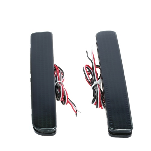 Pair of Rear Bumper Reflect Warning Light Plate Replacement Modification Tail Brake Lamp for Land Rover Discovery