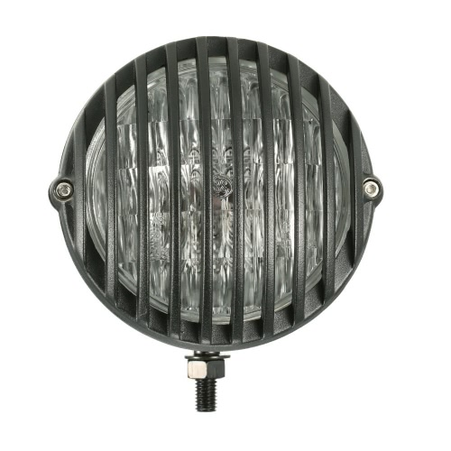 H4 12V 55W 5-дюймовый Мотоцикл Scalloped фара с Grille Абажур для или Harley Chopper Поплавок