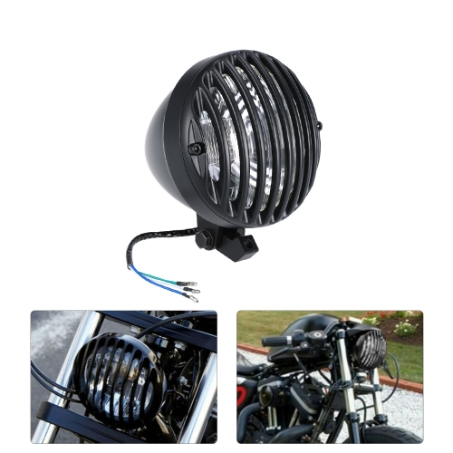 Universal 6.3 Inch Motorcycle Headlight Full Aluminium Heavy Duty Cast for Harley Cafe Racer