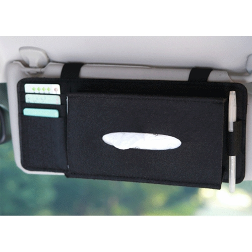 Fashion Car Sun Visor Type Wool Felt Hanging Tissue Box Pouch Card Storage