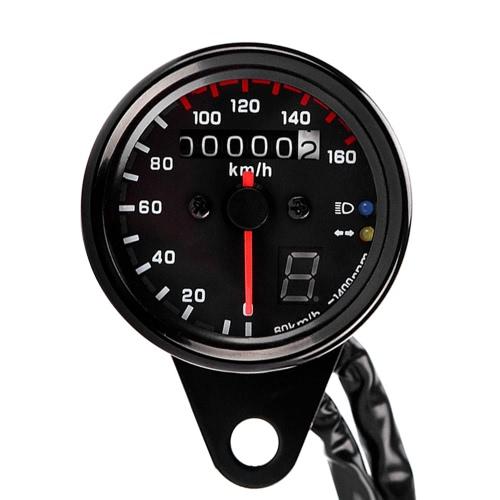 12V универсальный указатель скорости тахометра мотоцикла w / светодиодная подсветка