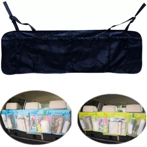Multifonction Version plus longue Car Backseat Organiseur de boîte suspendue Organiseur arrière arrière Voyage Multi Pocket Car Styling Holder Sac de rangement 6 couches Articles Placing Auto Accessories