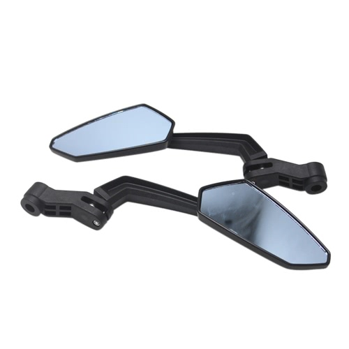 Universal Motorcycle Aluminum Alloy Blue Anti Glared Lenses Handlebar Rotatable Rearview Side Mirror Modified Accessories for Street Cars Universal Scooters