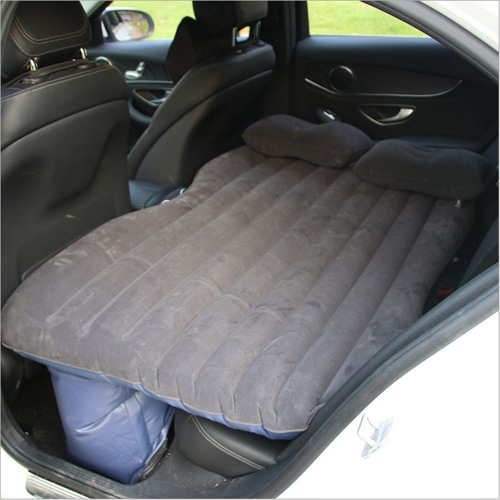 Multifunctional Car Flocking Air Mattress Undulating Style Inflatable Bed Back Seat Cushions for Travel Camping