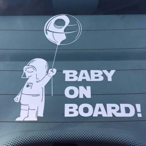 Reflectante bebé a bordo auto cuerpo pegatina pegatina extraíble impermeable