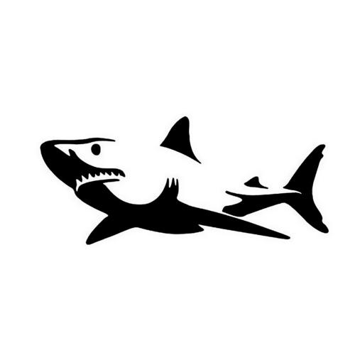 Cute Shark Car Body Styling Sticker Removable Waterproof