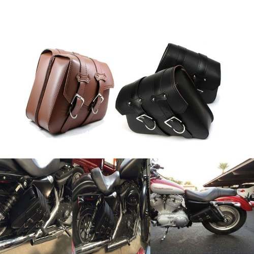 Сумка для мотоциклов багажника для мотоциклов PU кожаные боковые сумки Saddlebags for Motorbike фото