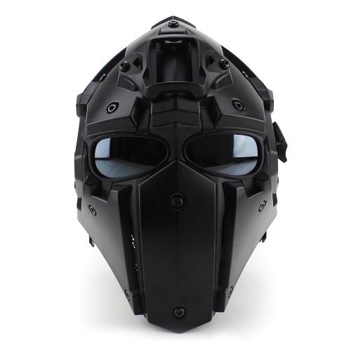 Мотоциклетный шлем Полноэкранный велосипед Тактические шлемы Черный