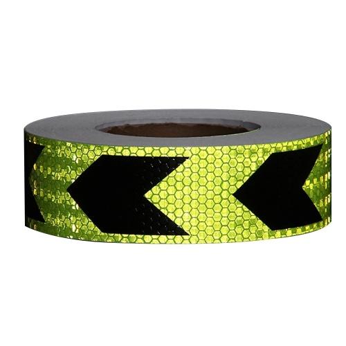 Etiqueta de cinta reflectante de advertencia de seguridad de flecha visible