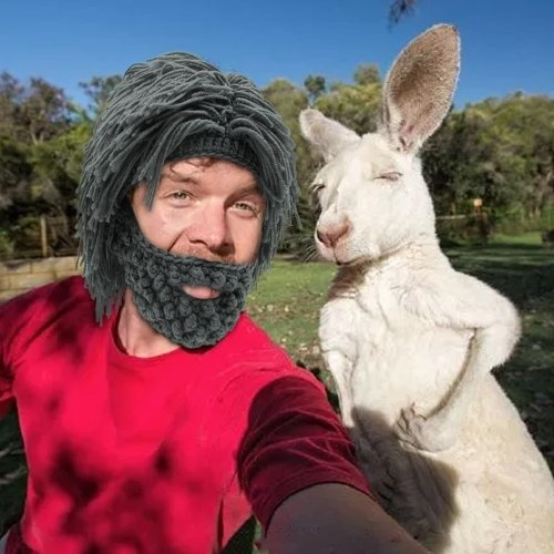 New Fashion Wig Beard Cappelli Cavemen Winter Ski Cap divertente