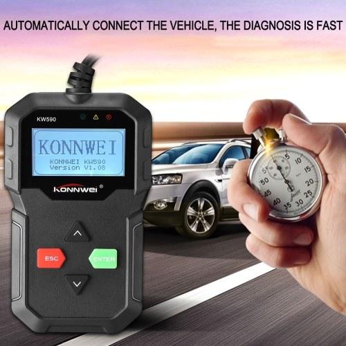 KONNWEI KW590 OBDII OBD Scanner Car Diagnostic Scanner