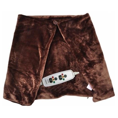 USB Heated Shawl Electric Heating Blanket Winter Plush Heating Shawl with 3 Heating Settings and 3 Timing Settings